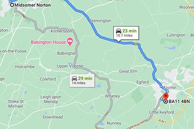Midsomer Norton to Frome